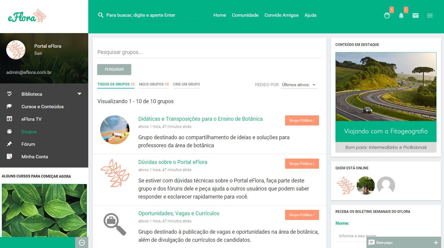 Educação ambiental online