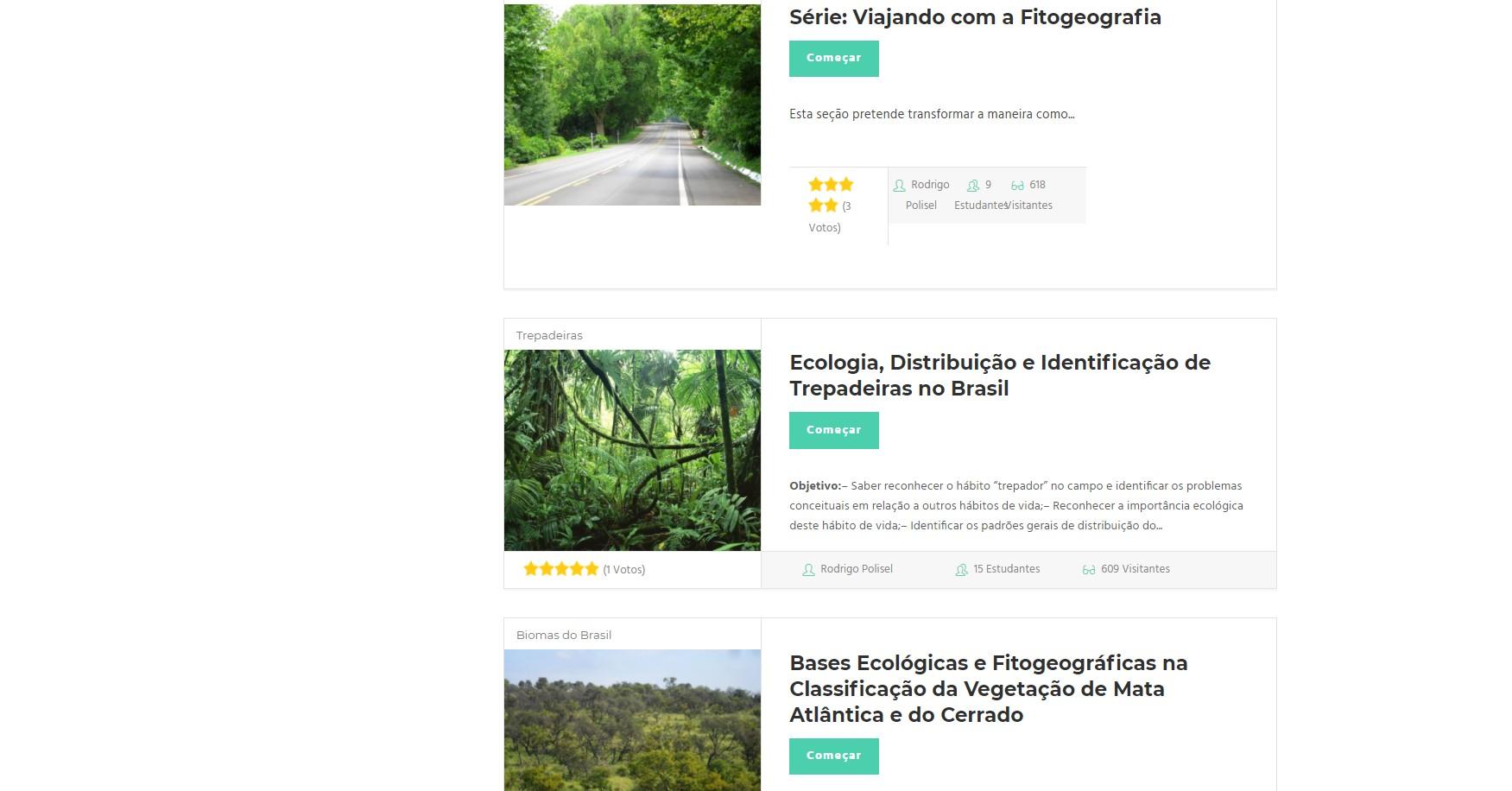 Cursos botânica online
